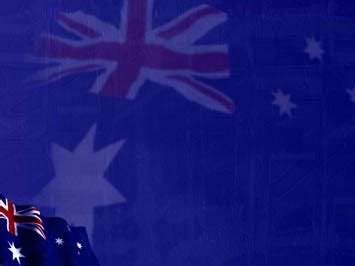 australia flag  powerpoint template