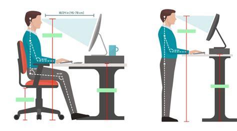 how tall should a standing desk be the proper height of a standing desk notsitting com