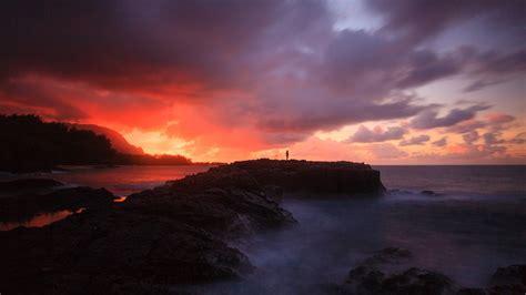 full hd wallpaper stone sunset mountain romantic ireland