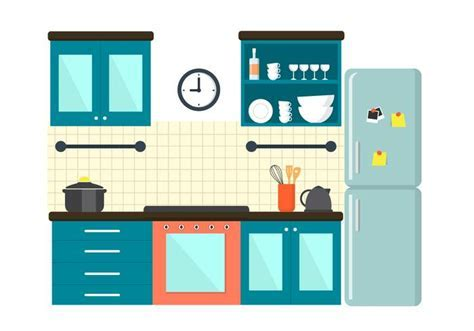 Free Kitchen Illustration   Download Free Vector Art