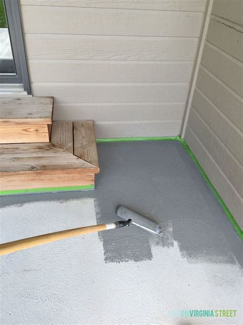 painted concrete patio makeover backyard ideas