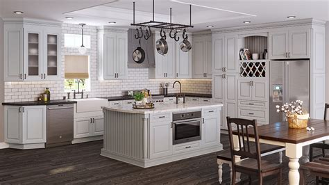 kitchen contractors island tahoe light gray rta ready to assemble kitchen cabinets