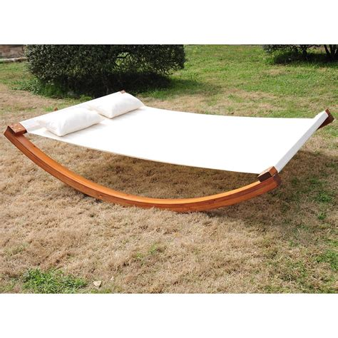 Hammock Photos by Outsunny Wooden Curved Hammock Aosom Ca