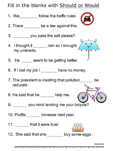 Why Should Verbs Be Used In Writing A Resume by Basic Verbs Worksheets Should Would 3l School Worksheets And School