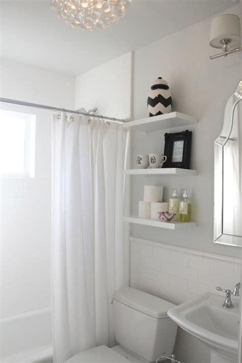 shelves above toilet transitional bathroom benjamin