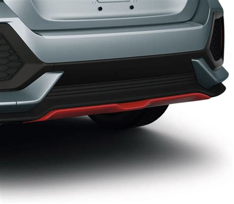 honda civic hatchback rallye red rear underbody