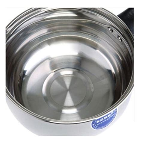 dishwasher handy polished safe pot stove stockpot saucepan induction cookware cooker soup lid milk gas glass silver
