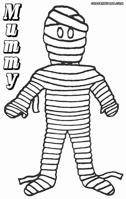 Mummy Coloring Pages Colouring Colorings Coloringway