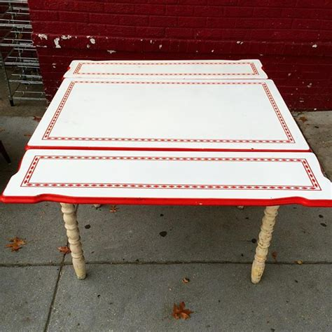 sold refectory kitchen dining table  enameled metal