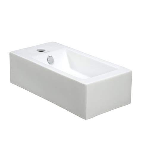 narrow wall mount sink elanti wall mounted right facing rectangle bathroom sink