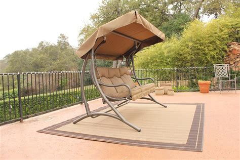patio gliders canopy outdoor furniture design and ideas