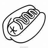 Dog Coloring Hotdog Sausage Bun Icon Mustard Pages Iconfinder sketch template