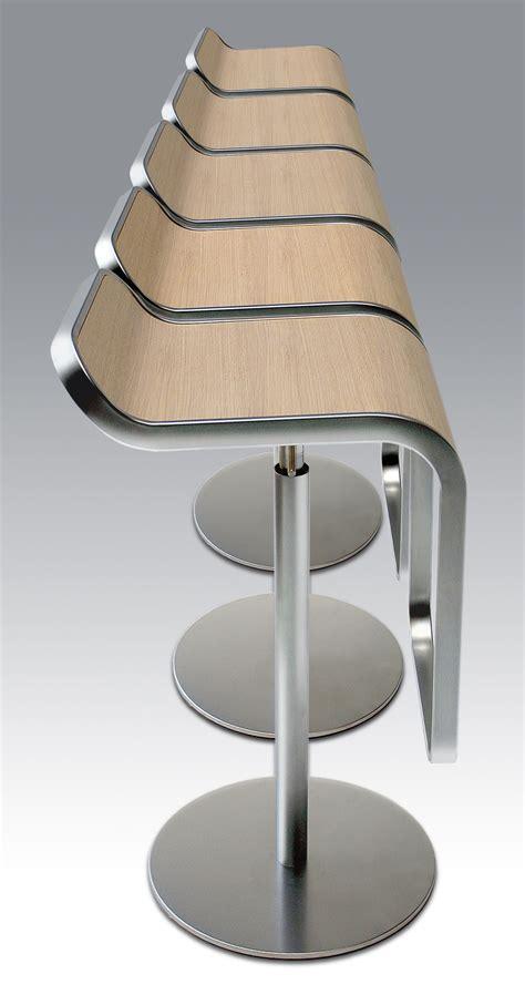 bureau chene blanchi tabouret haut réglable lem assise bois pivotant chêne