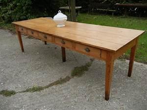 Table 12 Personnes : ancienne table de communaut religieuse 10 tiroirs pour 12 personnes ~ Teatrodelosmanantiales.com Idées de Décoration