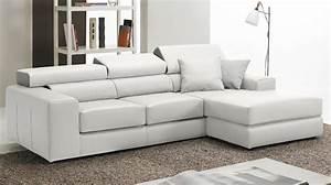 canape d39angle reversible en cuir blanc haut de gamme With canape cuir haut de gamme design