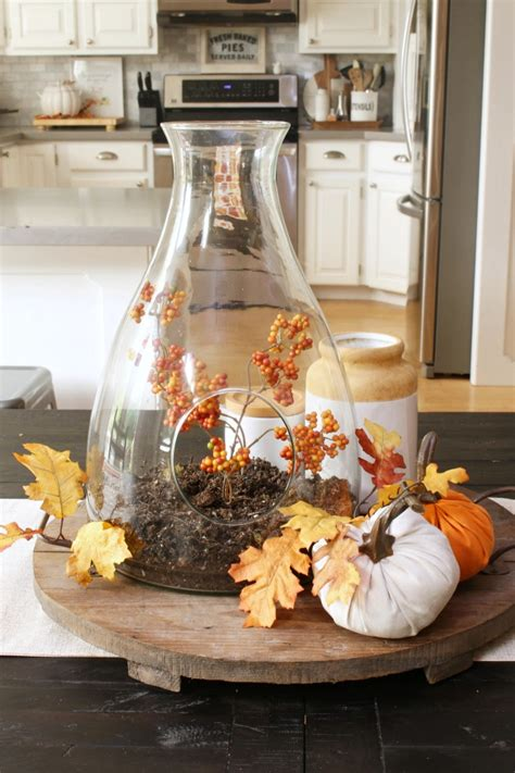 Ideas For Decorating Your Kitchen Table easy fall kitchen decorating ideas clean and scentsible