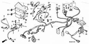 Honda Motorcycle 2009 Oem Parts Diagram For Wire Harness
