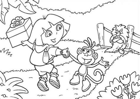 Dora And Boots Color In Coloring Pages