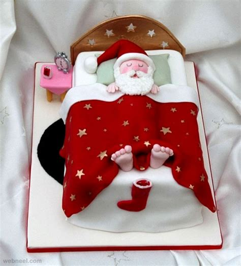 25 creative christmas cake decoration ideas and design exles