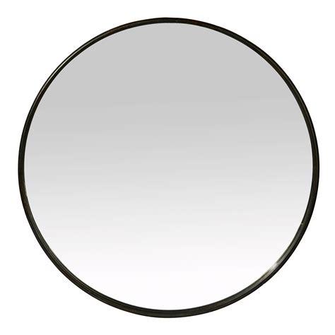 Grand Miroir Rond Miroir Rond Mural En Fer Noir Patin 233 Boudoir