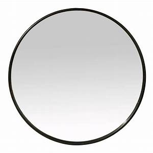 Miroir Rond à Suspendre : miroir rond mural en fer noir patin boudoir ~ Teatrodelosmanantiales.com Idées de Décoration