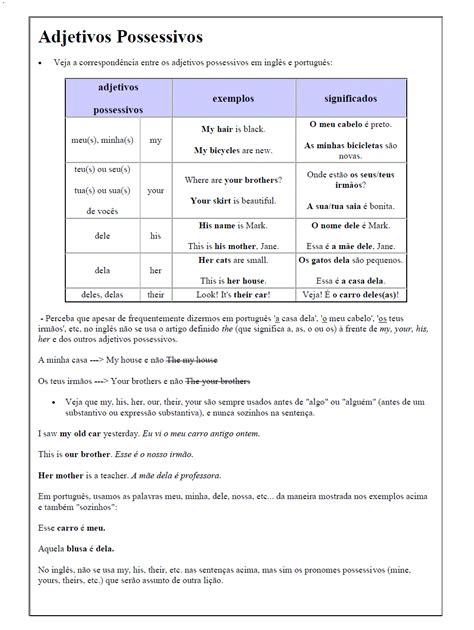 atividades de ingles possessive adjectives
