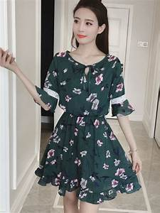 Plus Size Chiffon Short Dress Ulzzang Korean Fashion Half ...