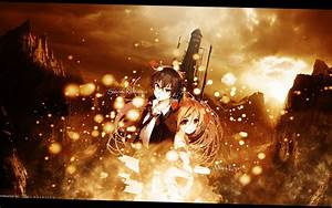 Wallpaper Black Bullet Satomi Enju Orange Scene 2 by ...