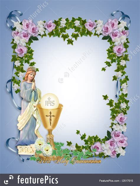 templates  holy communion invitation stock