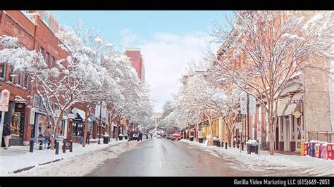 nashville snow downtown