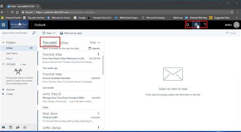 Office 365 Outlook Focused Inbox by O365 Outlook Webmail Mhu Its Department