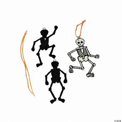Magic Scratch Skeleton Glow Dark Ornaments Craft