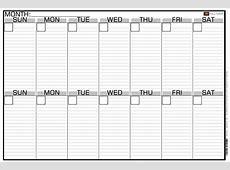 2 Week Calendar With Lines Calendar Template 2018