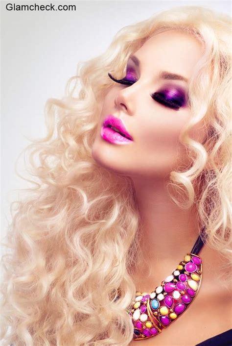 bold festive makeup poll mysterious black  sensual pink
