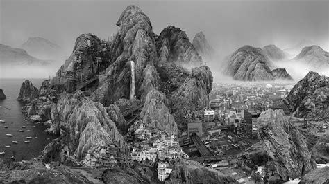artist  yongliang imagines  bleak effects