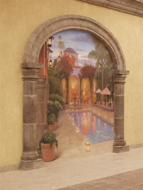trompe  oeil murals good ideas pinterest murals