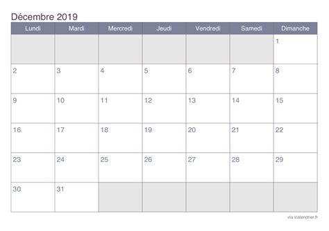 calendrier decembre   imprimer icalendrier
