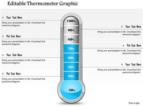 editable thermometer graphic powerpoint