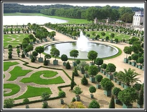 Schloss Versailles Garten Vogelperspektive Garten