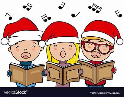 Christmas Singing Songs Carols Children Santa Vector