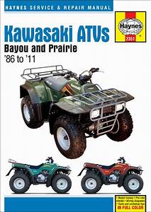 Kawasaki Bayou  Prairie 220  250  300 Repair Manual 1986