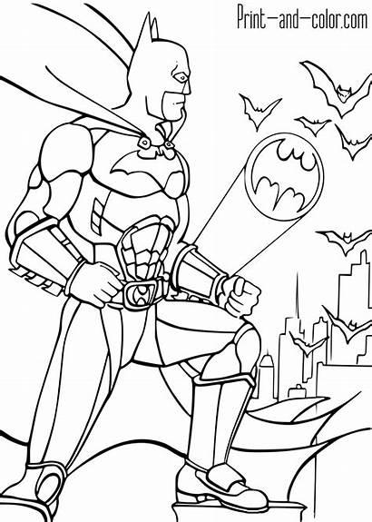 Batman Coloring Pages Knight Dark Bat Signal