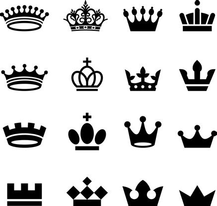 vector crown creative silhouettes set  vector