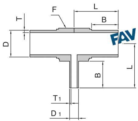 reducing long weld tee drawing fav