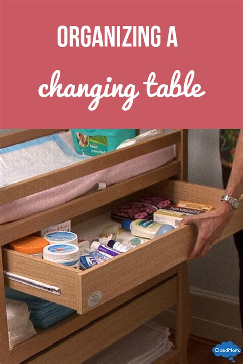 changing table organization ideas organizing a changing table cloudmom