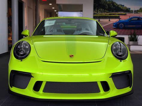 Acid Green 2018 Porsche 911 Gt3 Looks The Part In Texas