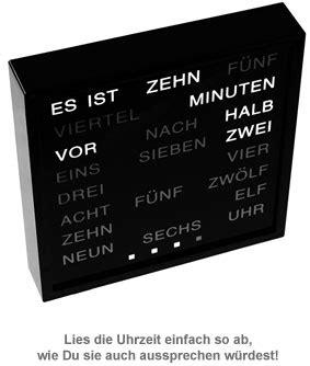 Uhr Mit Worten by Wortuhr Uhr Mit Buchstaben Statt Zahlen Text Uhr Mit
