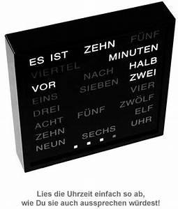 Uhr Mit Worten : wortuhr uhr mit buchstaben statt zahlen text uhr mit ~ A.2002-acura-tl-radio.info Haus und Dekorationen