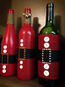 Santa Wine Bottle Christmas Decoration