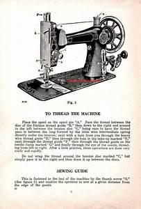 Eldredge Model E B H  Sewing Machine Instruction Manual